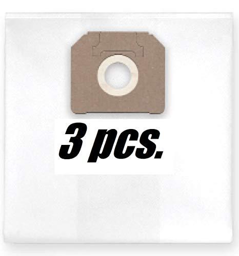 3x Versterkte 6-lagen vliesstofzak voor fijnstof/bouwstoffen (spatels, gips, enz.), passen bij Makita 447L