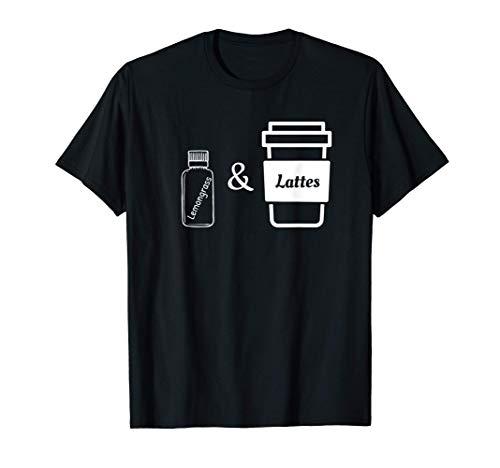 Aceite esencial de limoncillo Aromaterapia Café con leche Camiseta