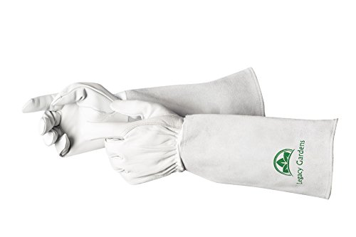 Legacy Gardens Leather Gardening Gloves for Women and Men | Thorn and Cut Proof Garden Work Gloves...