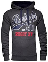 blk Melbourne Rebels Pullover Graphic Hoodie