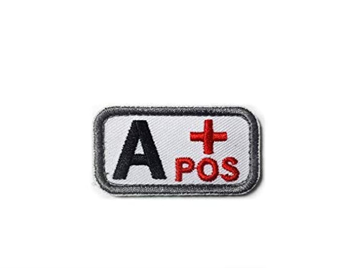 Morton Home Military Blood Type Positive Tactical Army Embroidered Patch (A+POS)