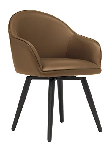 Studio Designs Home Guest Dome Upholstered Swivel Dining/Office Accent Chair with Arms in Blended...