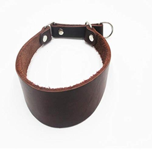Collar de perro personalizado Collar de perro galgo Collar de cuero para mascotas para cuello delgado Sin tirón Accesorios para collar de mascotas Collar de perro de perro suave y duradero Mar