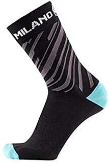 BIANCHI MILANO - Wintersocken SPRIANA, Farbe 4000 (schwarz/hellblau) Größe XXL (44/47)