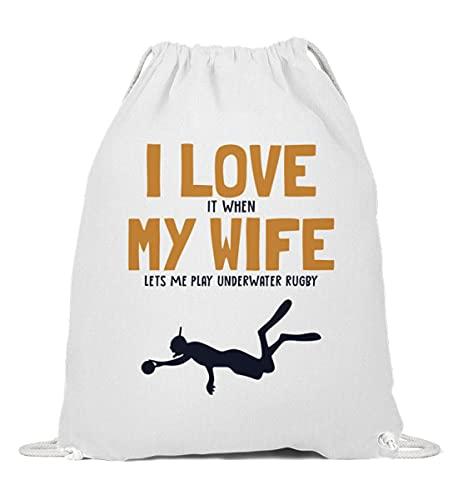 Apnoetraining Turnbeutel   I love my Wife Underwater Rugby Gymsac