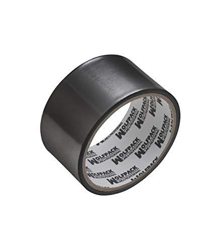 Wolfpack 14060125 Nastro adesivo in alluminio nero 48 mm x 10 m, 66 micron