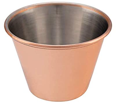 Copper-Plated Stainless Steel Sauce Cups- Portion Cups, Dipping Cups, Mini Ramekins (12 pack, 2.5 oz)