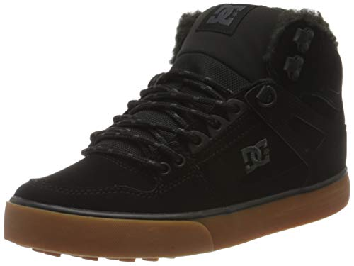 DC Shoes Herren Pure High-top Wc Winter Sneaker, Black Red Green, 39 EU