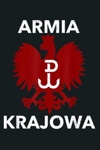 Polish Resistance Flag Armia Krajowa Polska Eagle: notebook, notebook journal beautiful , simple, impressive,size 6x9 inches, 114 paperback pages
