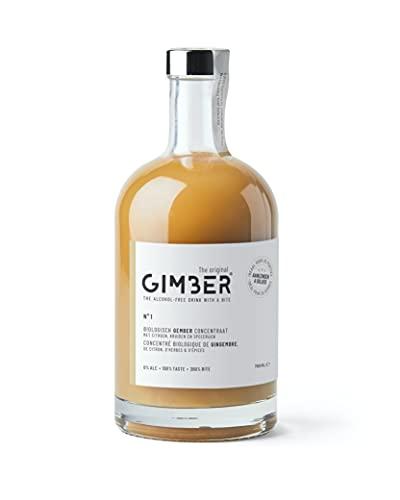 GIMBER Concentré de gingembre bio 700 ml | Boisson sans alcool 100% biologique à base de gingembre, citron et épices | Jus de gingembre Premium