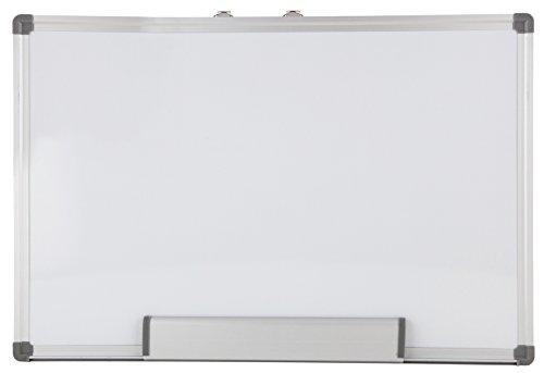Idena 60043 - Whiteboard 60 x 90 cm, mit Aluminiumrahmen und Stiftablage, 1 Stück