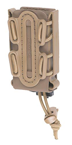 G-CODE (TAN) Soft Shell Scorpion -Short- Pistol Mag Carrier with P2 Operator Belt Mount Clip 100% Made in The USA (1153-4B)