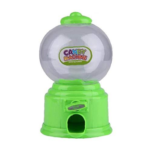 YZLSM Mini máquina de Gumball clásico Caramelo dispensador de Monedas del Banco de Gumball de la Burbuja para los cumpleaños Kiddie Partes Verde Navidad