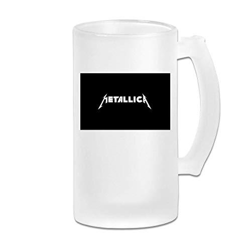 Gedruckte 16oz Milchglas Bier Stein Tasse Tasse - Metallica - Grafikbecher