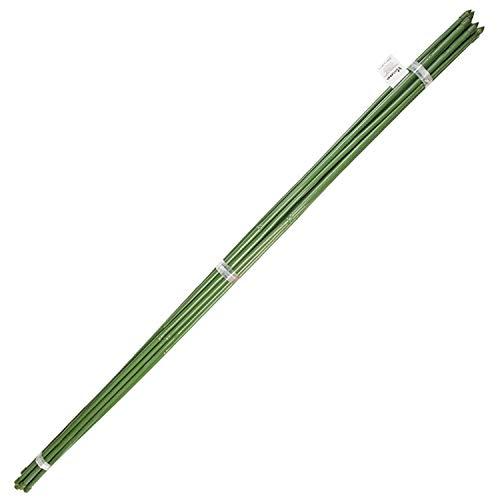 SATURNIA Tutor Varilla Bambú Plastificado Ø 12 - 14 mm. x 180 cm. (Paquete 10 Unidades)