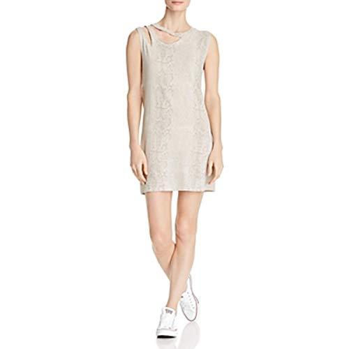 LNA Clothing Womens Snake Print Cut-Out Tank Dress Beige M