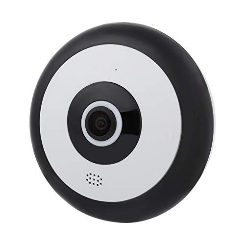 Pwshymi Mini cámara Gran Angular de Domo panorámica 1080P antivibración óptica para vigilancia de Seguridad en Interiores(100-240V European Standard)