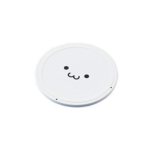エレコム W-QA03WF Qi規格対応ワイヤレス充電器/5W/薄型/卓上/ホワイトフェイス