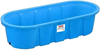 Behlen Country Poly Stock Tank 3'x2'x8' Round-End 300 Gallon Heavy Duty, Molded-in Aluminum Drain Fitting and 1-1/4