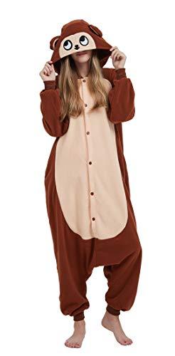Pigiama Animali Cosplay Uomo Donna Adulti Costume Tuta Scimmia XL