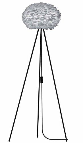 Vita Lampadaire EOS Light Grey pour lampe a + + à E avec trépied Noir d 45 cm Trépied H 109 cm