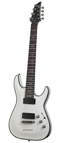 Schecter Hellraiser C-7 7-String Electric Guitar (Gloss White)