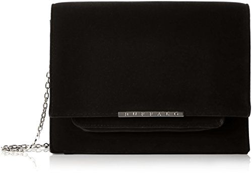 Buffalo Damen Bag 16bwg-38 New Velvet Umhängetasche, Schwarz (Black 01), 7x19x24 cm