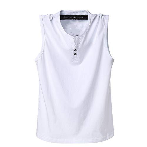 NOBRAND Camiseta sin mangas, chaleco y chaleco para hombre Blanco blanco 4XL