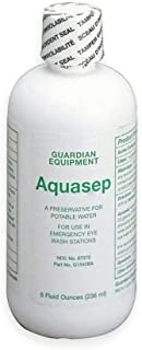 Guardian G1540BA-R Aquasep Eyewash Water Preservative Includes 4, 8 oz. Bottles of Preservative