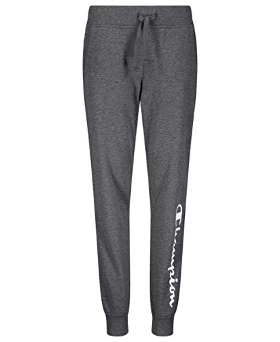 Champion Girls French Terry Pull On Sweatpants Jogger Kids Clothign (Granite Heather Heritage, Large)