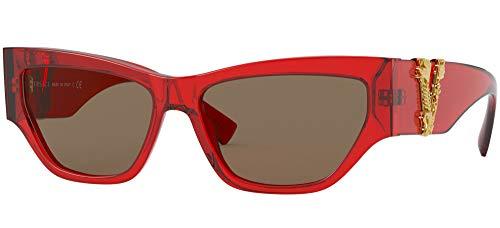 Versace 0VE4383 Lunettes de soleil, Multi (RED/BROWN), 56/15/140