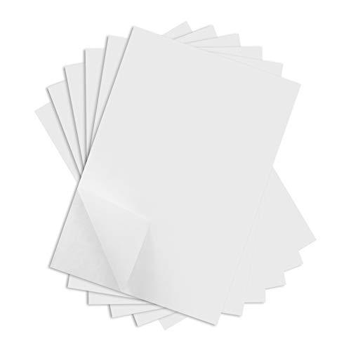 Gitua 100 Blatt A4 Kohlepapier, Weiß Kohlenstoff Transferpapier Graphit Kopierpapier Pauspapier für Holz Papier Leinwand Glas Keramik und Andere Oberflächen