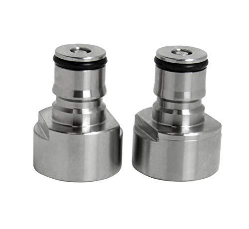 1 Paar Edelstahl-Fasskupplung, Kugelverschluss, Flüssigkeits- und Gasadapter, Cornelius-Stil für selbstgebraute Bierfass
