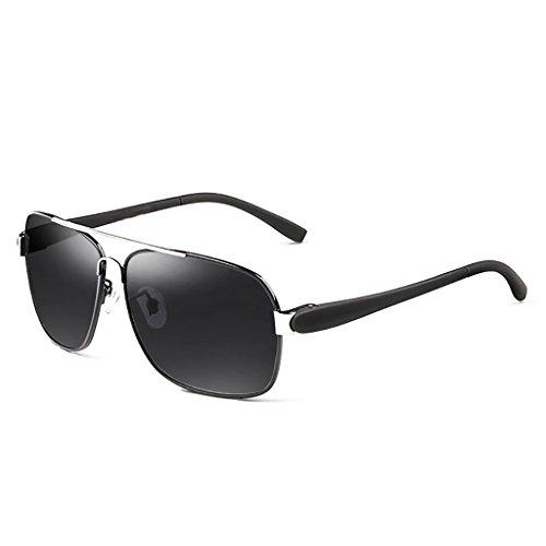 Ppy778 Gafas de Sol polarizadas Retro Vintage para Hombres Deporte al Aire Libre Metal metálico Ultraligero Lentes HD Lentes Gafas Air Force Unisex UV 400 Protección (Color : 1)