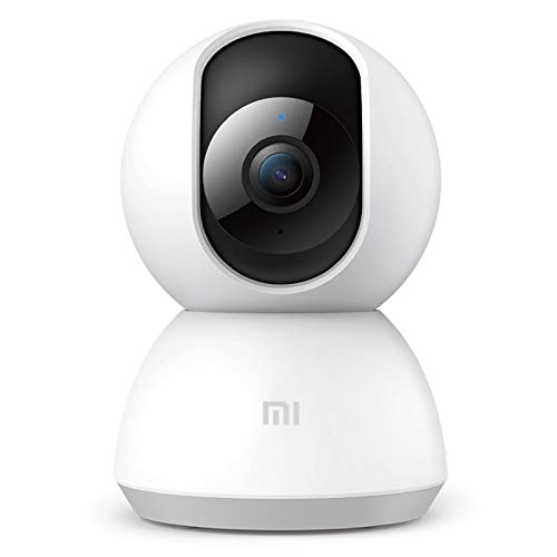 Xiaomi MI Home Security Camera 360° 1080P Sistema de cámaras IP de Seguridad para vigilancia de Seguridad inalámbrica con Motion Tracker,Visión Nocturna,Alerta de Actividad,iOS Android,Interior