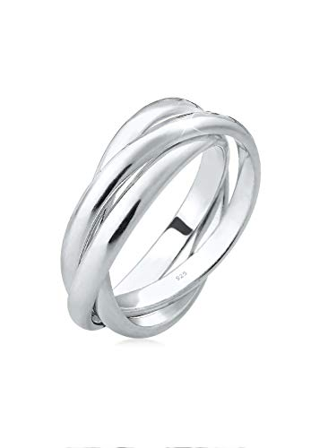Elli Ring Wickelring Basic Tri-Color 925 Sterling Silber