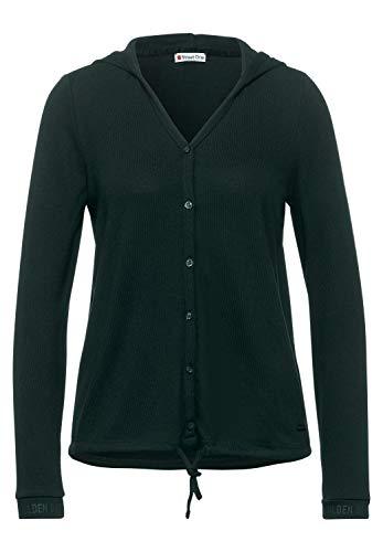 Street One Damen Shirtjacke in Melange-Optik Endless Green Melange 40