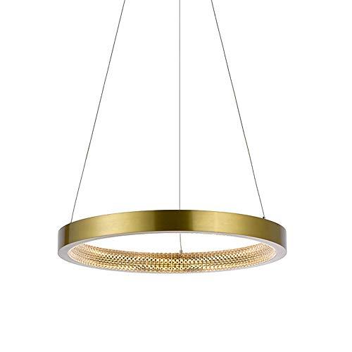 Warm Home Led-plafondlamp, warm, alleen cirkels, goudkleurig, decoratie voor huis, eetkamer, woonkamer, restaurant, modern, eenvoudig, met een mooie stijl