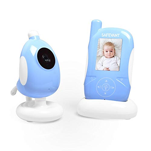 Video Baby Monitor, SAFEVANT 2.4 inches Wireless Baby Monitors with Camera Night Vision Temperature Sensor Two-Way Talk and VOX Monitors