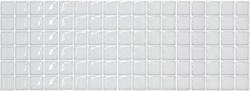 【 Dream Sticker 】モザイクタイルシール キッチン 洗面所 トイレの模様替えに最適のDIY 壁紙デコレーション ALT-15 スノー Snow 【 自作アートインテリア/ウォールステッカー 】 貼り方説明書付属 (1枚)
