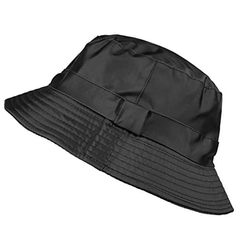 Toutacoo, Regenhut aus Nylon - One Size Schwarz Size L