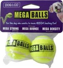 Unbekannt Dog & Co Mega Bälle Tennisbälle, 1,8Zoll, gelb, 2Stück