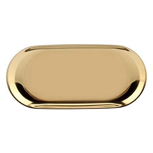 Ablagefach, Wacent Cosmetics Jewelry Cake Plate für Bürotische Edelstahl-Ablagefach im nordischen Stil(L-Gold)