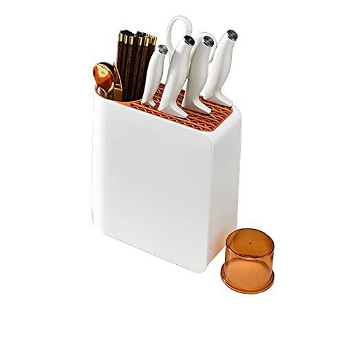 QWV Cuchillos Cocina portacuchillos Cuchara Palillos Jaula Integrado Multifuncional Cuchillo Cocina Estante Almacenamiento (Color : 02)