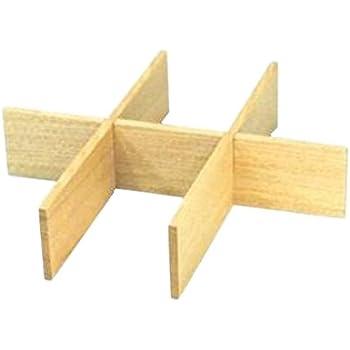 松屋漆器店 白木塗タモ製六つ切仕切り6.0寸重箱用
