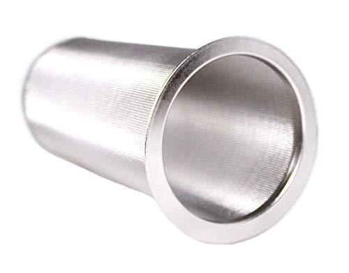 Kaltbrau-Kaffeemaschine – Breiter Mund-Glasfilter zum Brauen von Kaffee, Konzentrat und Tee zu Hause – Edelstahl