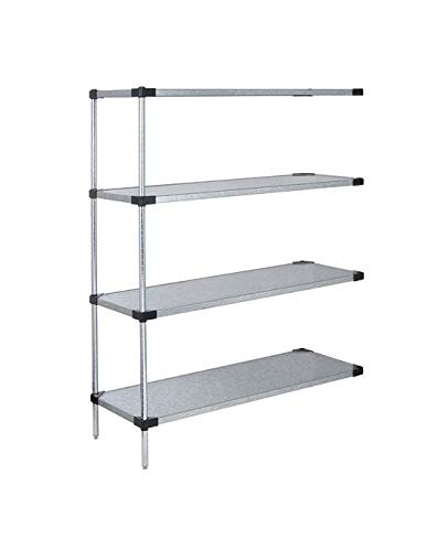 18″ x 36″ x 74″ – Solid Stainless Steel Wire Shelving Add-on Kit – 4 Shelves