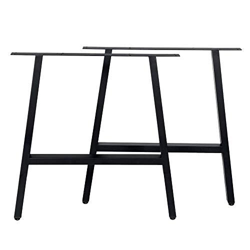 WH-IOE Foldable Hairpin Table Legs 2Pcs Coffee Dining Table Legs Stainless Steel Industrial Metal Laptop Desk Steel Base Feet Standard Desk And Legs