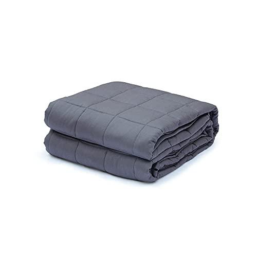 Liziya Manta ponderada,Manta de algodón por Gravedad 1PCS-Grey_80 * 87 [30 Libras] 203 * 221 [13,6 kg],Manta de Peso para Adultos