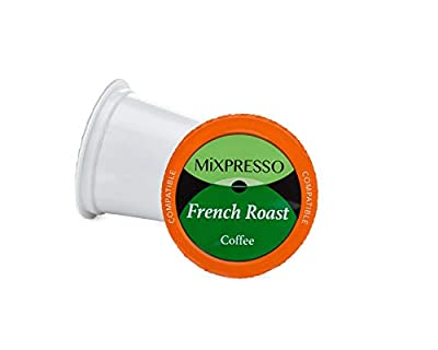 Mixpresso Coffee Roasters French Roast Coffee pods pack - Single Serve K-Cup Pods Compatible With Most Of The Kuerig Coffee Machines - 48 count